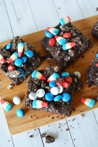 red white and blue brownies
