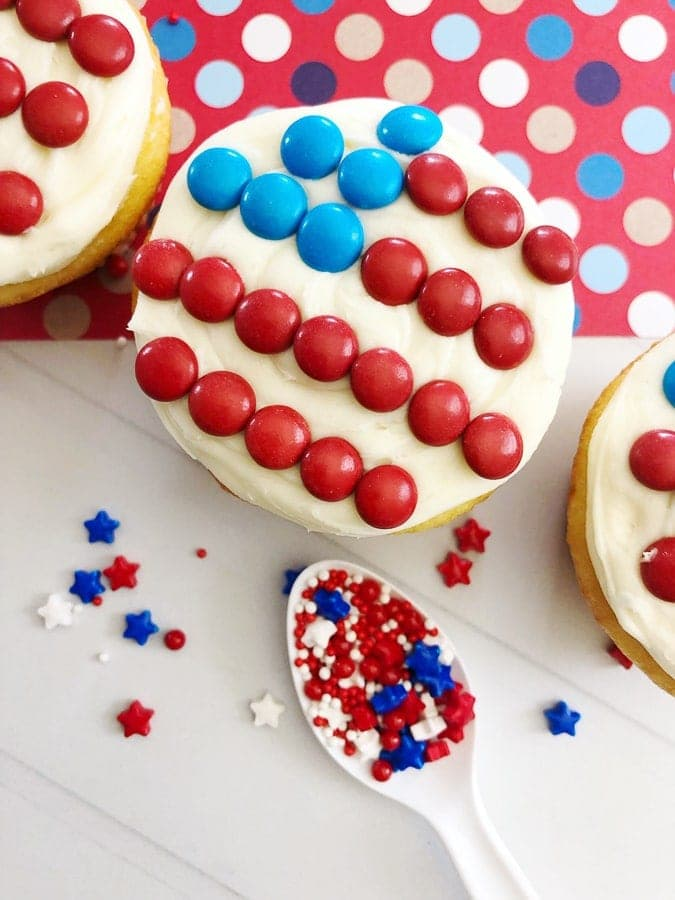 American flag cupcakes