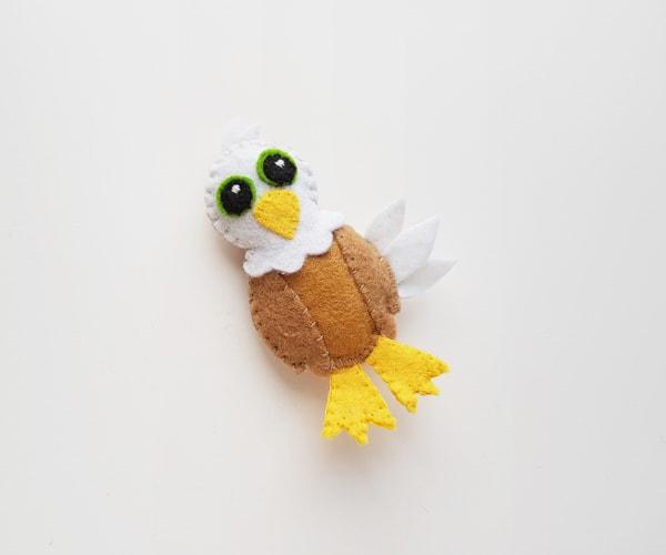 Cute bald eagle craft