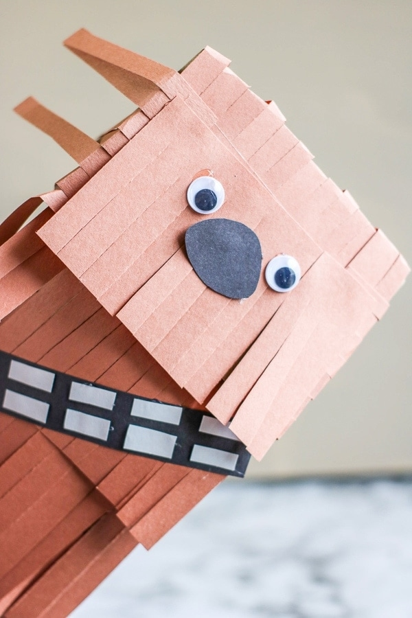 Star Wars Chewbacca paper bag puppet