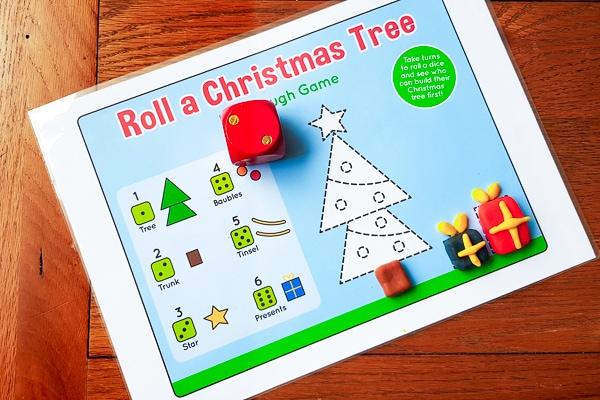 Christmas Play dough mat