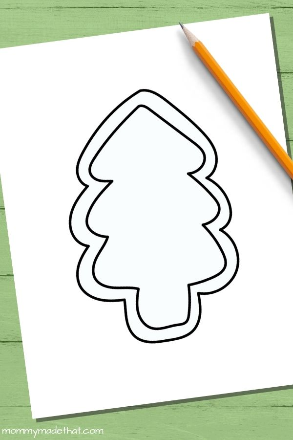 Cookie shaped Christmas tree templates