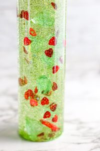 Christmas glitter sensory bottle