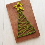 Christmas string art tree with star