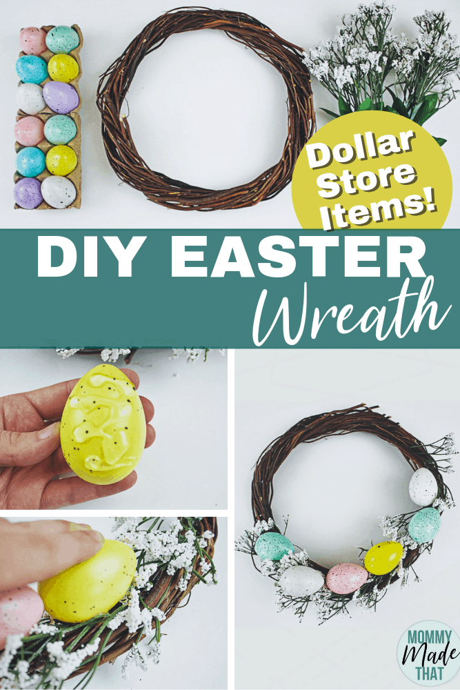 DIY Easter Egg Wreath. Fun Easter Craft to make a pretty spring time decoration for your home! Best part, Using