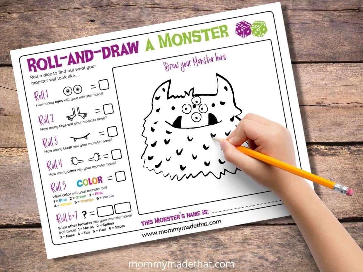 Make your own monster game printable