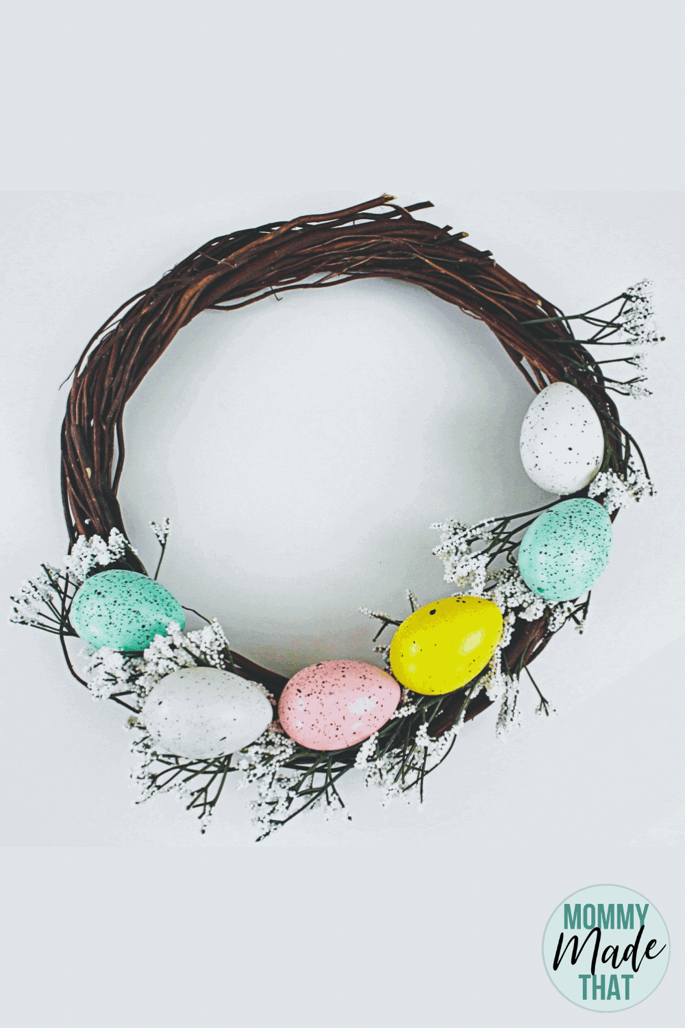 DIY Easter Wreath from Dollar Store Supplies