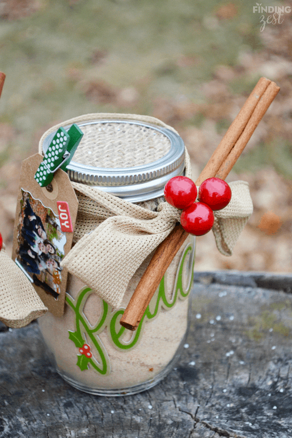DIY Russina tea in Mason jar gift