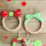 DIY Mason jar lid christmas ornaments