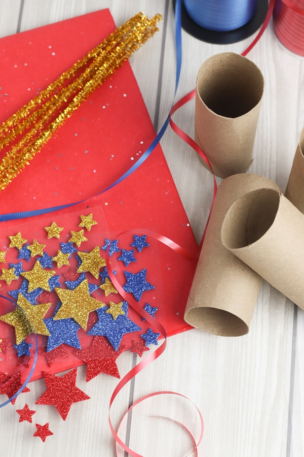 DIY confetti popper supplies