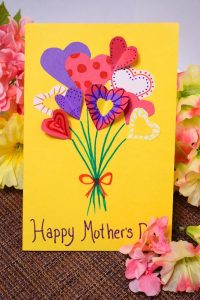 Handmade mothers day card for kids