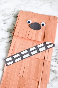 Cute wookie paper bag puppet craft