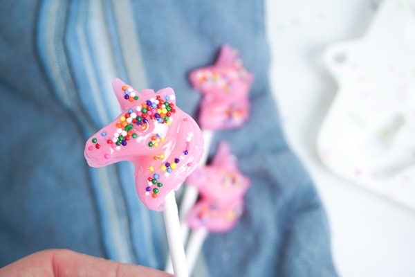 pink unicorn lollipop