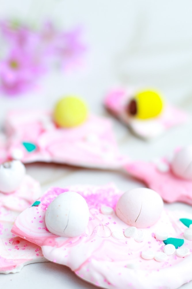 Easy Easter Bark with Chocolate Eggs