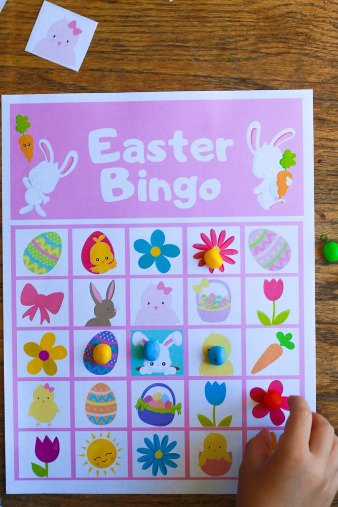 Easter Bingo for adults or kids
