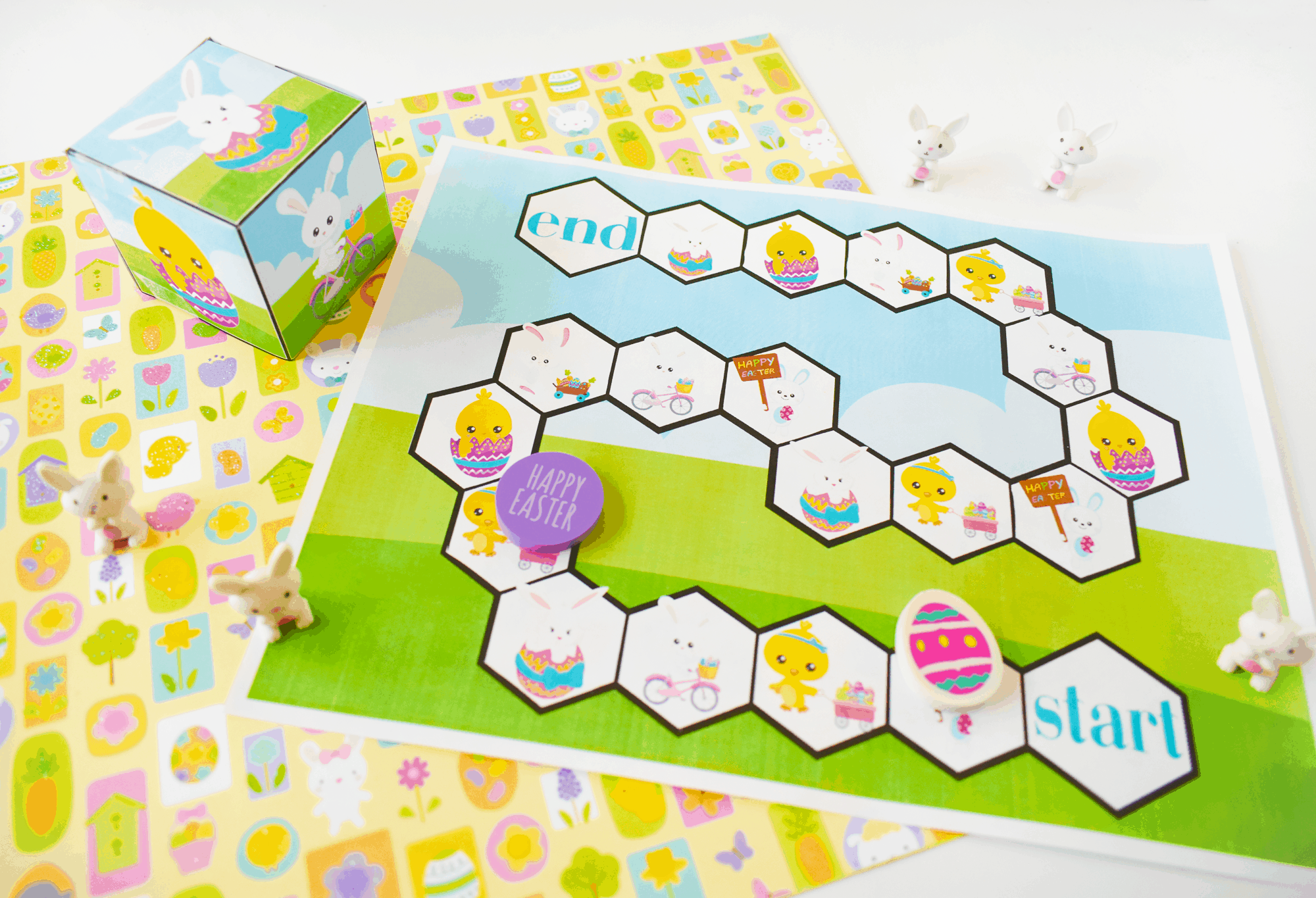 Free Easter board game printable.