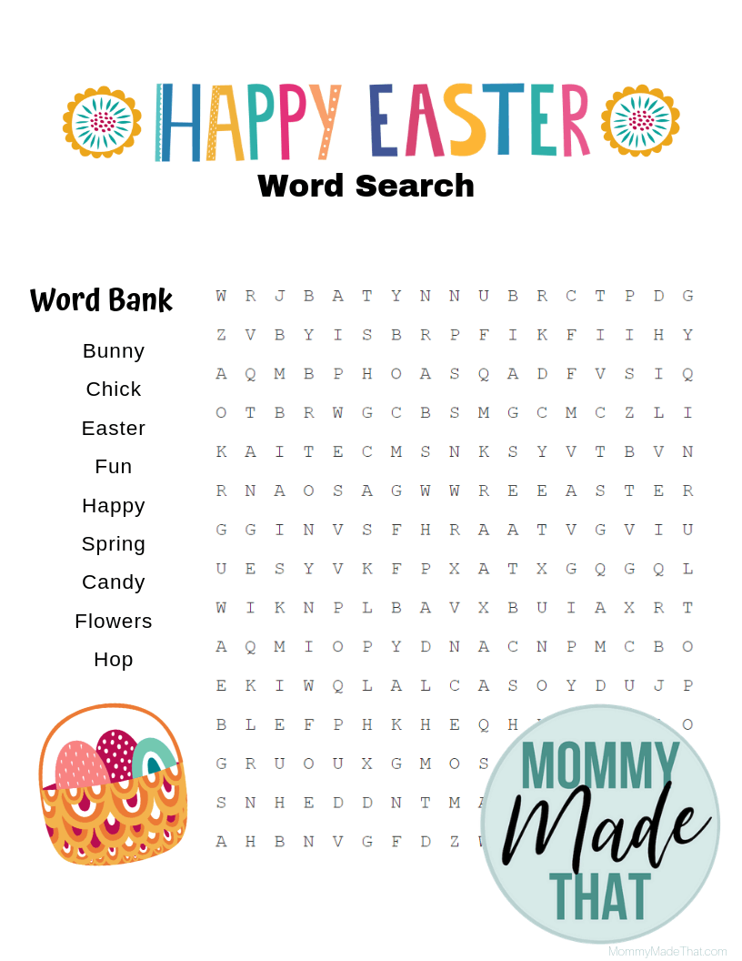 photograph relating to Free Printable Easter Word Search named 6 Extraordinary Free of charge Easter Term Glimpse Printables