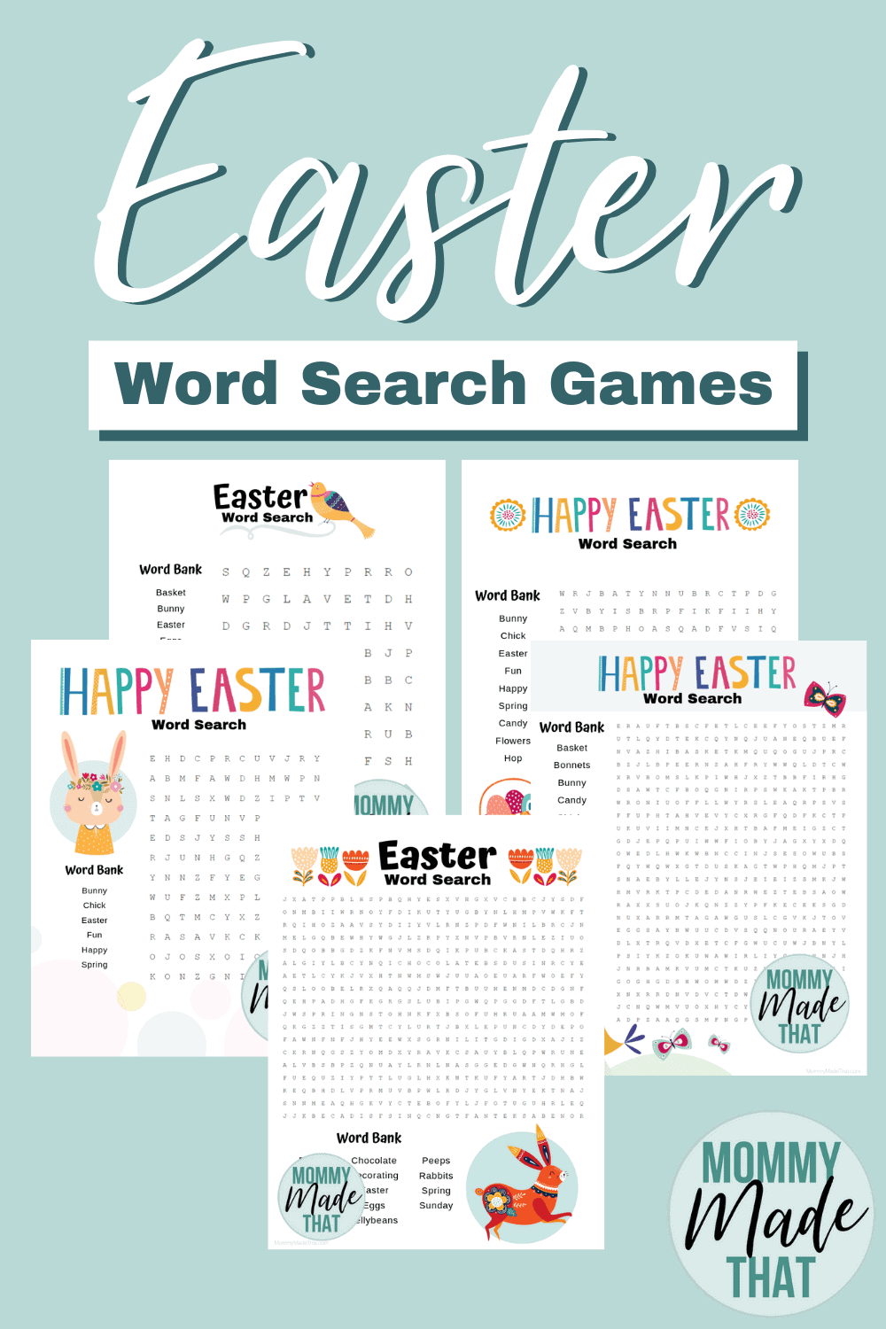 6 Fantastic Free Easter Word Search Printables