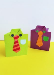Cute fathers day shirt cards tutorial