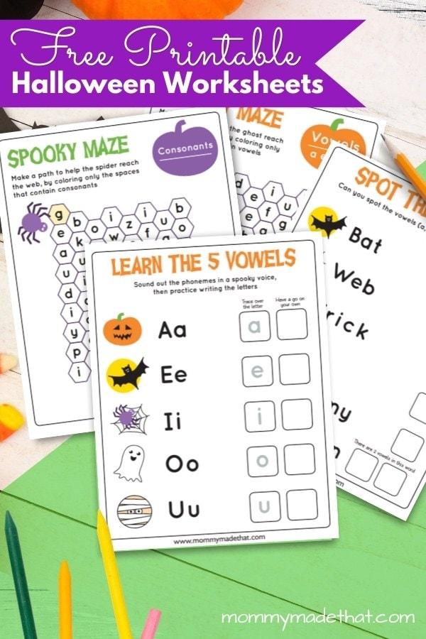 halloween work sheet for kids free printables