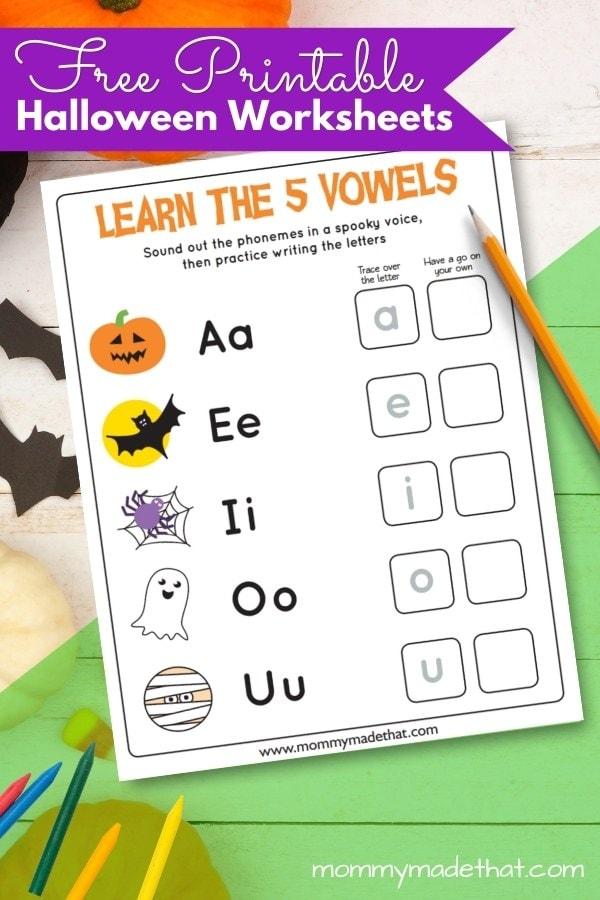 free printable halloween work sheet for kids