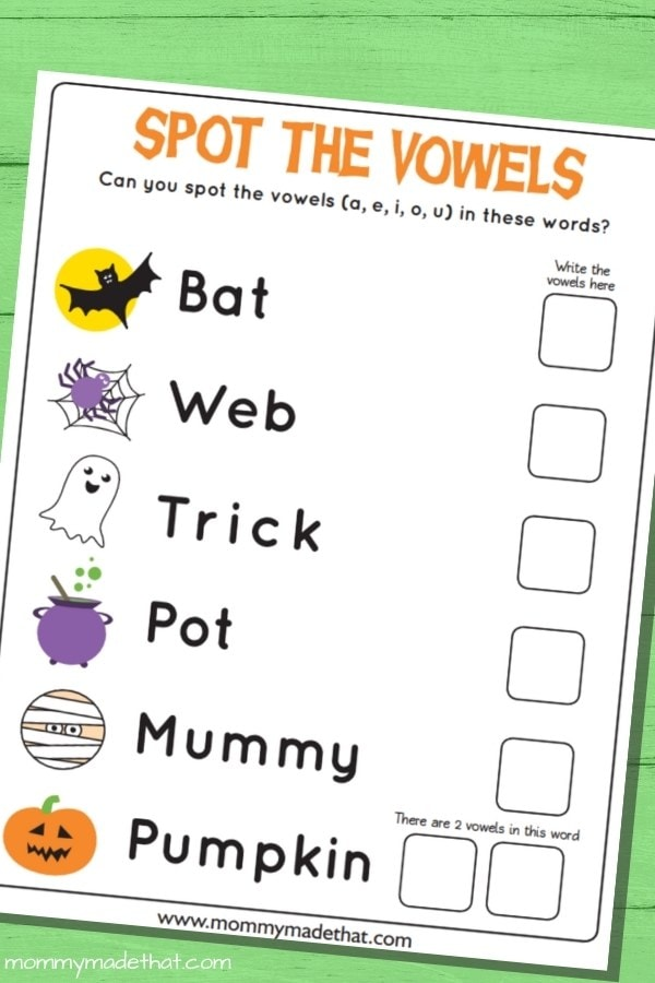 printable halloween work sheet for kids