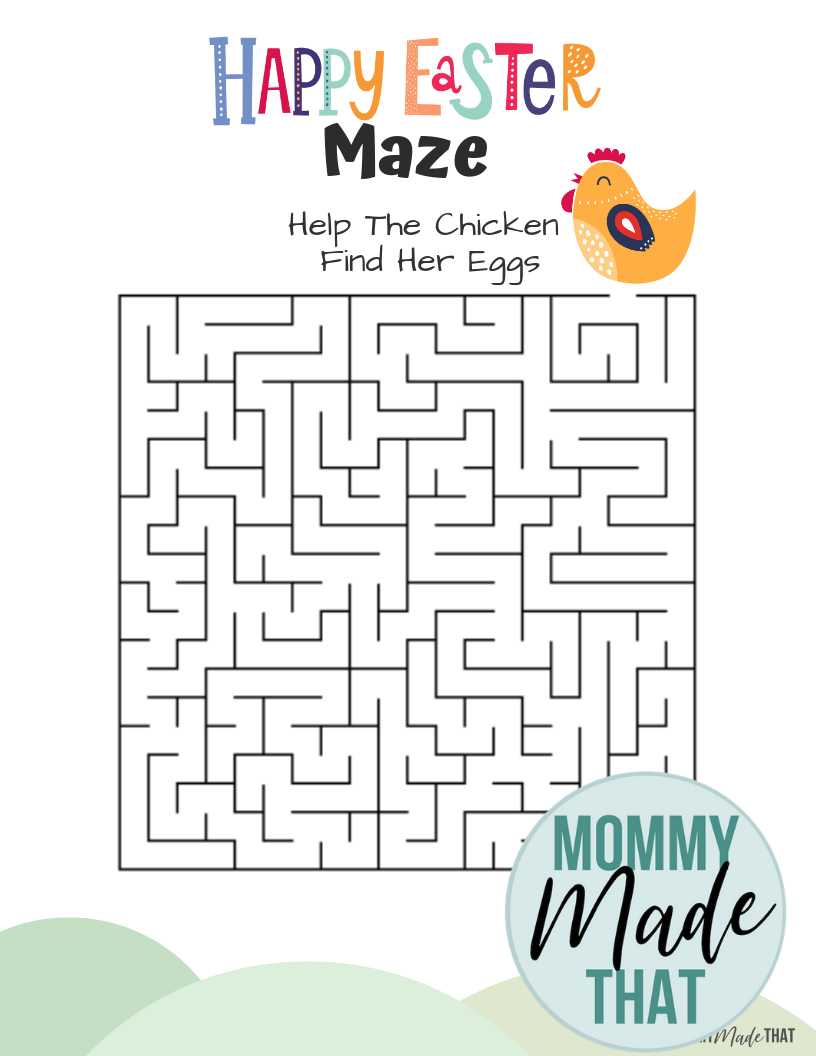 Free Printable Easter Activities for kids! Print the fun little maze game with an Easter theme.