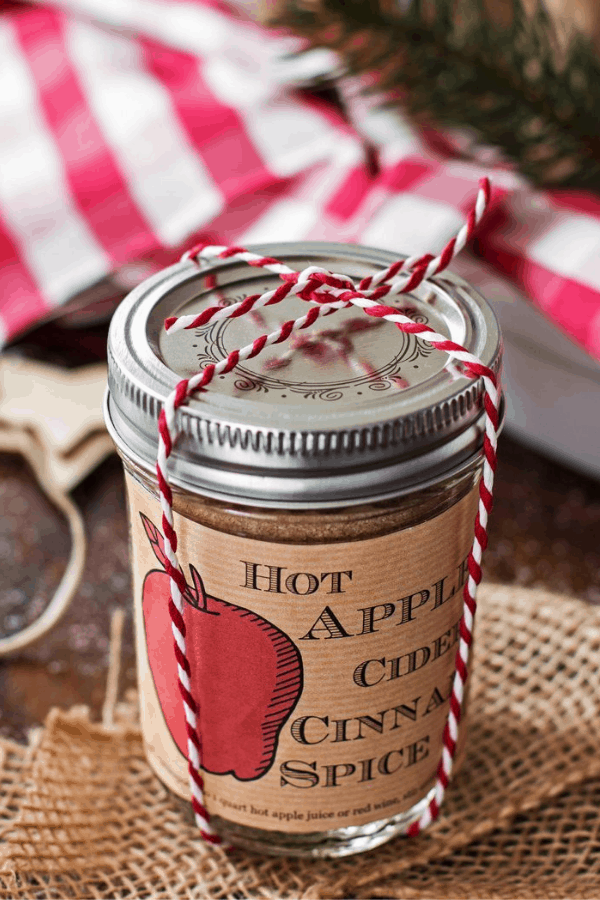 hot apple cider spice mix mason jar gift