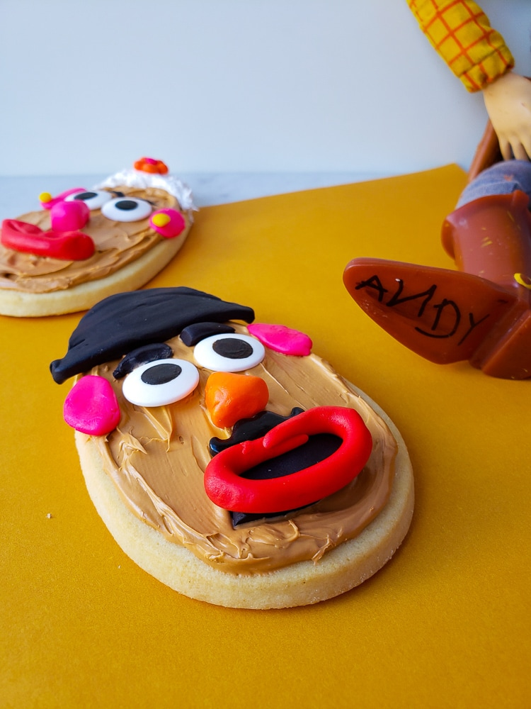 Mr. Potato Head cookies. Great Toy Story Ideas!