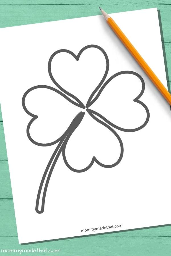 large four leaf clover template