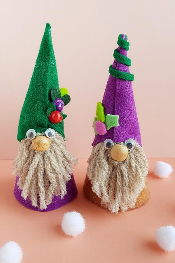 No sew felt gnomes