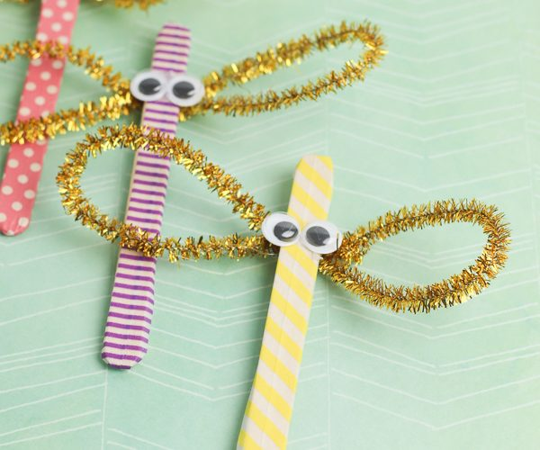Dragonfly Popsicle stick craft