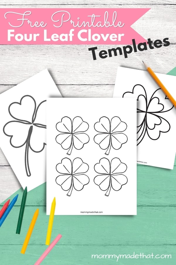 printable 4 leaf clover templates