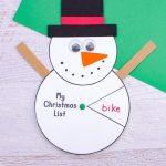 Cute snowman wish list spinner