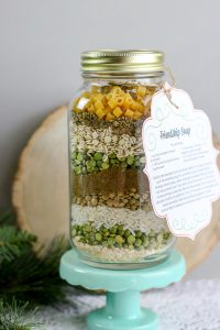 Dry soup in a jar gift