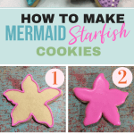 Starfish Mermaid Cookies for Mermaid themed party