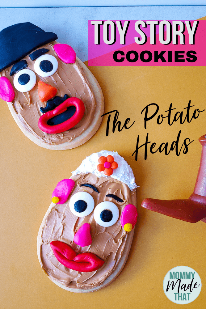 Toy story cookie ideas! These potato heads cookies are too cute!
