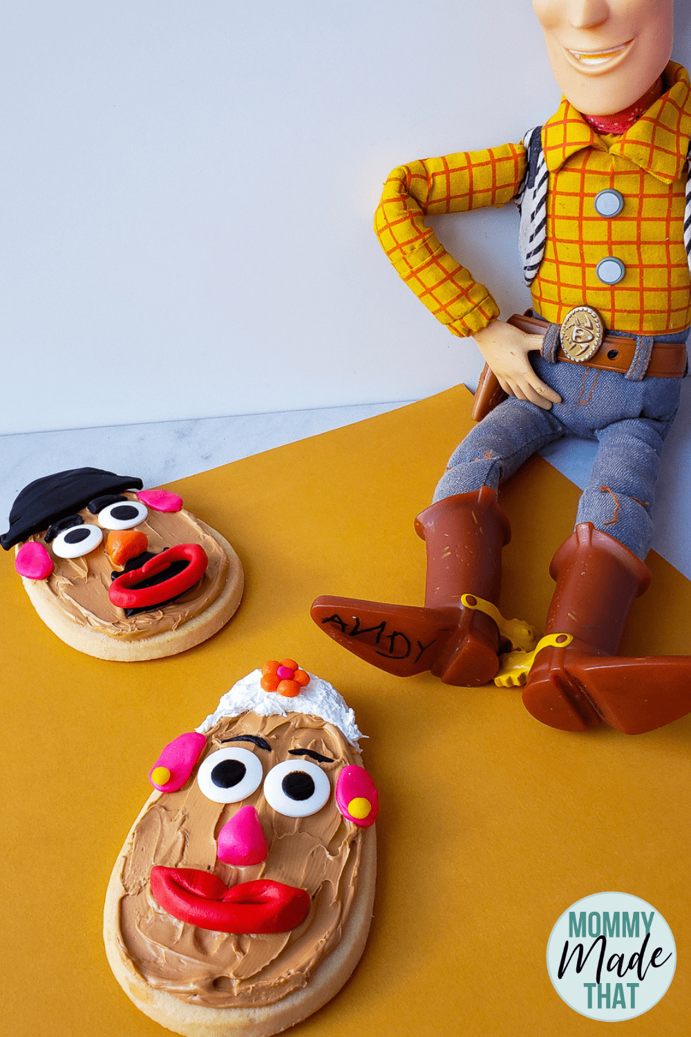 Mr. & Mrs. Potato Head Toy Story Cookies