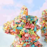 Unicorn rice krispie treats!