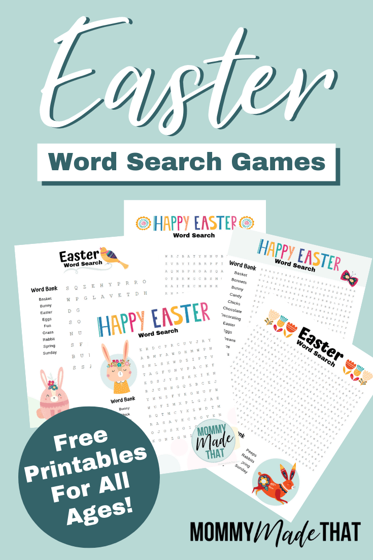 Easter themed word search games