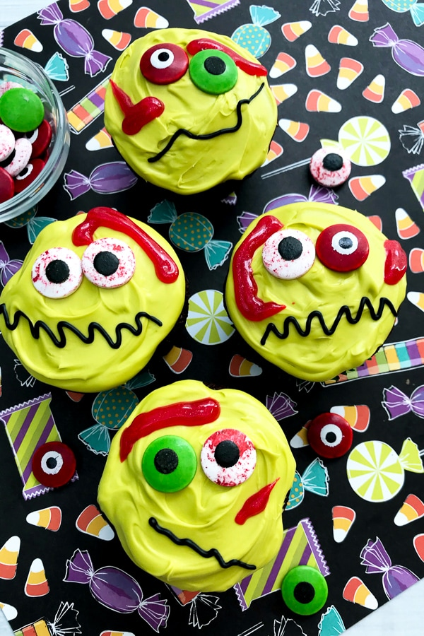 Cute zombie cupcakes