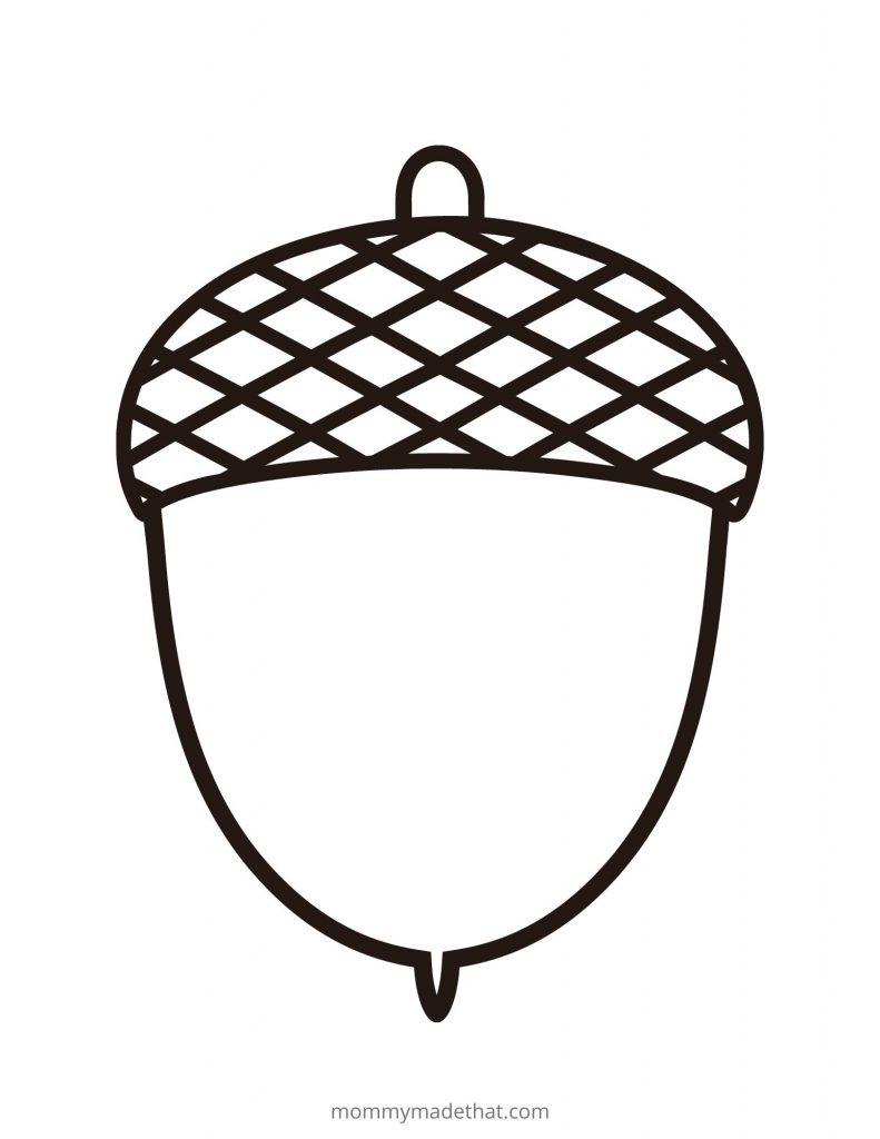 free acorn templates printables