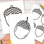 acorn template printables
