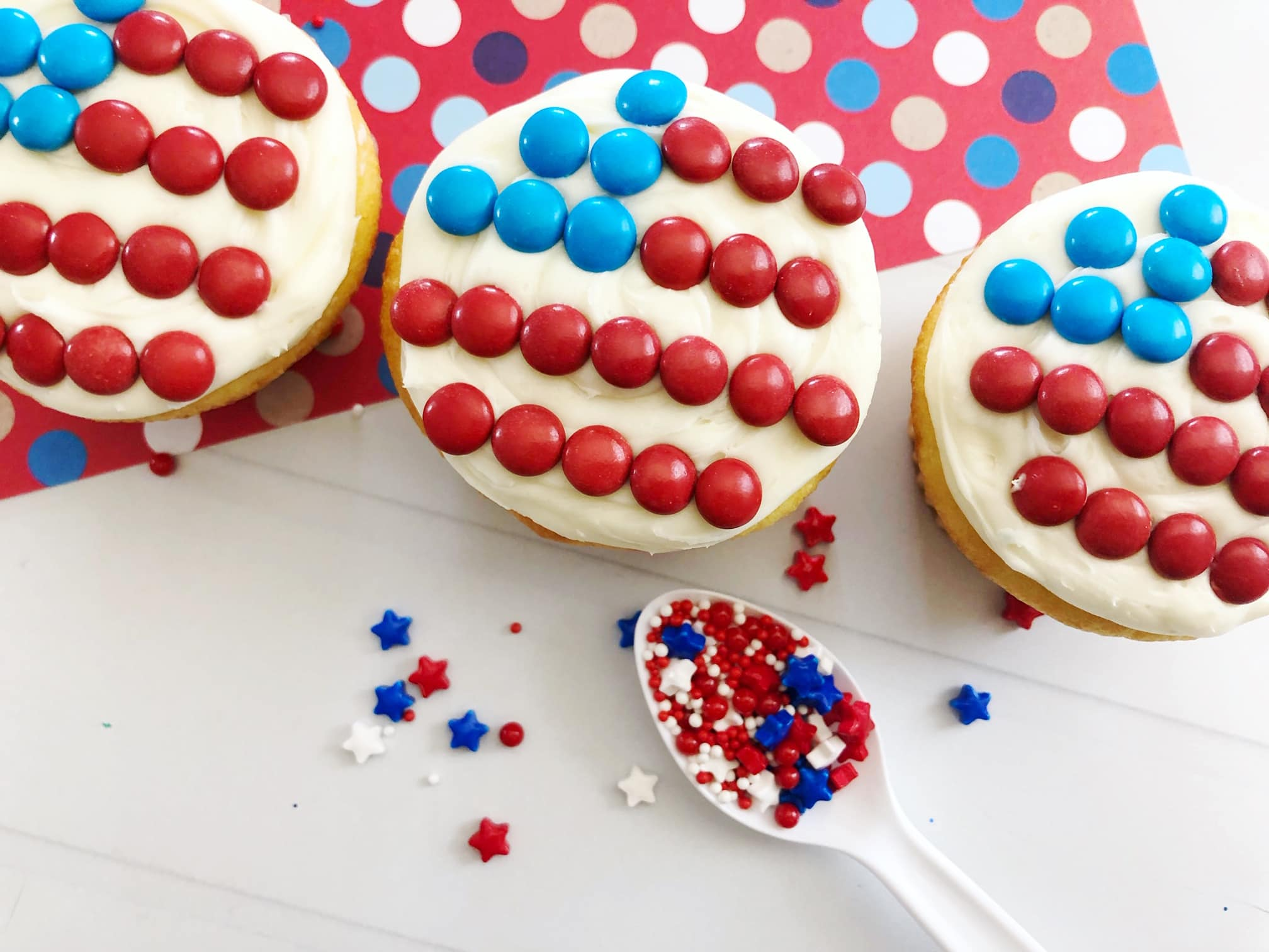 Easy american flag cupcakes