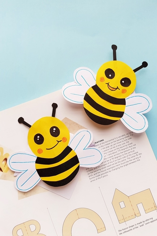 picture about Bee Template Printable titled Bumble Bee E book Mark with Printable Template