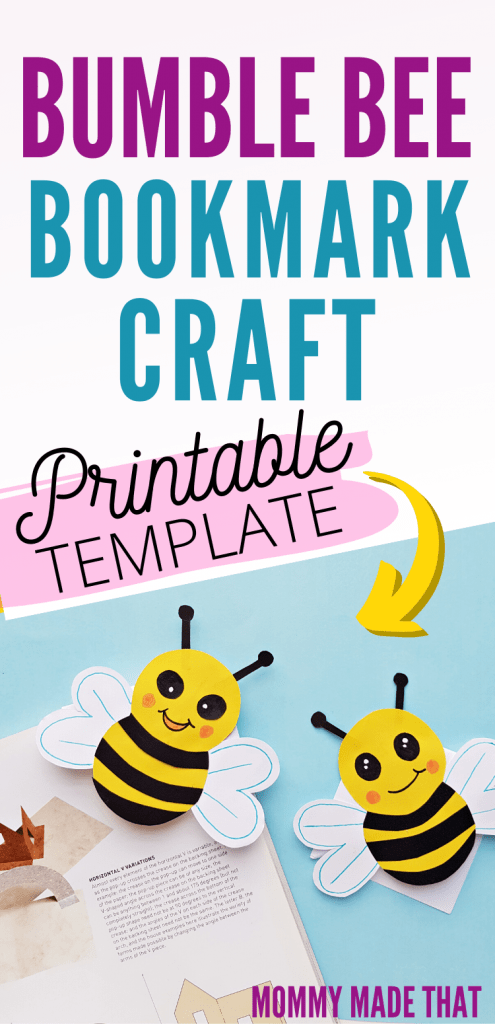 bumble bee bookmark craft
