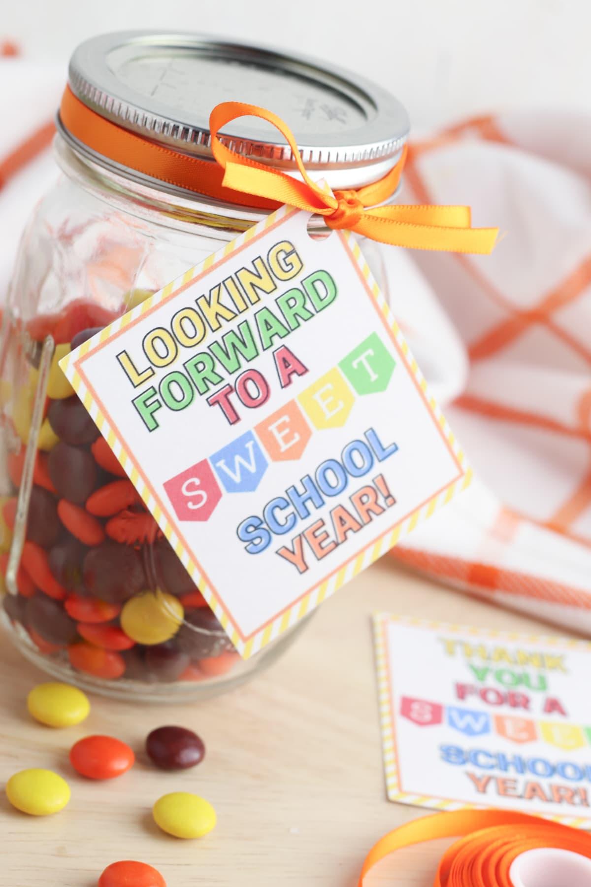 Candy jar for teachers gift idea