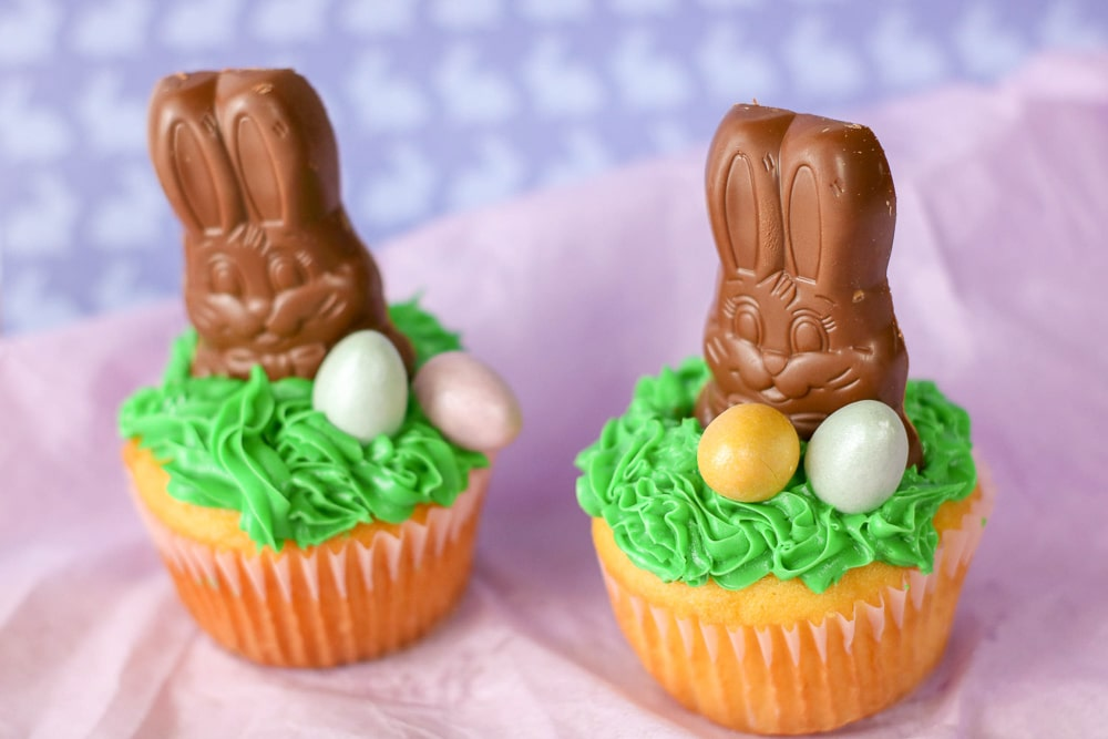 Super Cute Chocolate Easter Bunny Cupcakes!