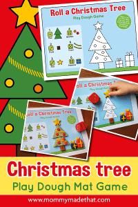 Christmas playdough mat activity