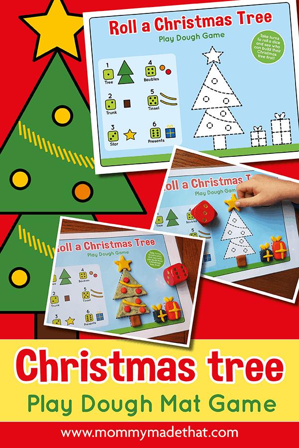 Christmas playdough mat activity